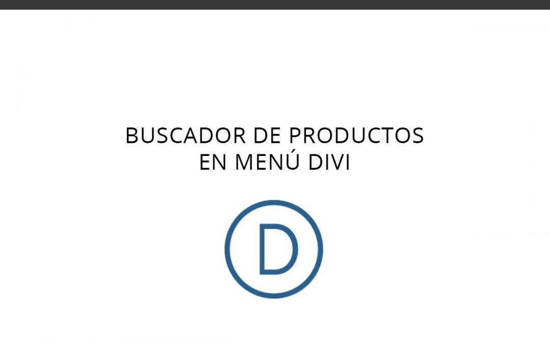 Buscador de productos en menú DIVI