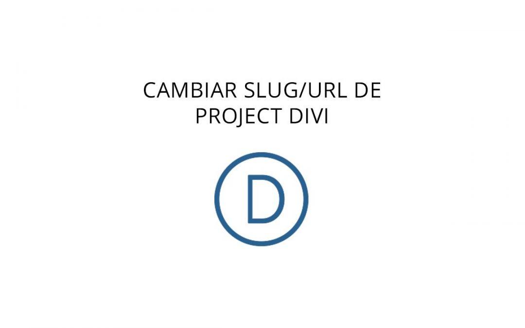 Cambiar slug/url de project DIVI